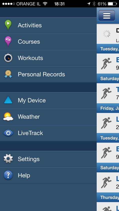 Garmin Connect Smartphone App