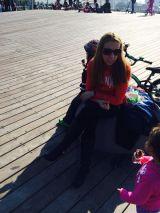 Enjoying the warm sun this time