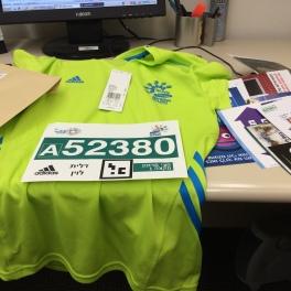 Bib and Shirt TLV Half Marathon