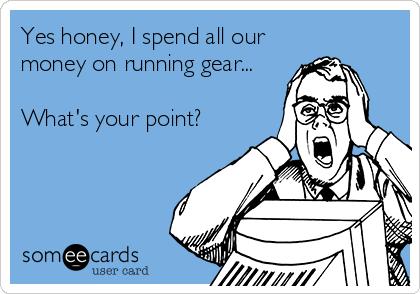 Spend money on running gear