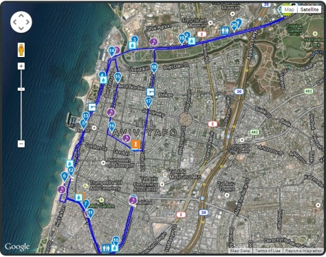 Tel Aviv Half Marathon 2014 Course Map