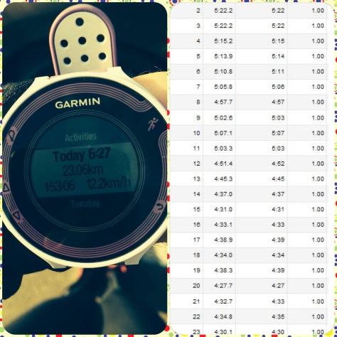 Workout Garmin and Splits